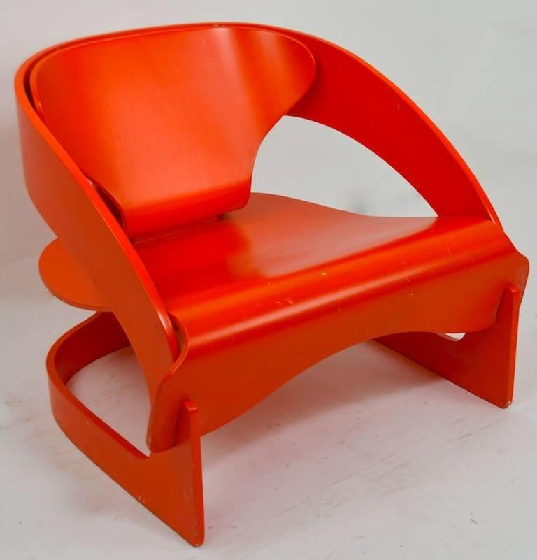 Joe Colombo 4801 for Kartell Lounge Chair For Sale 6