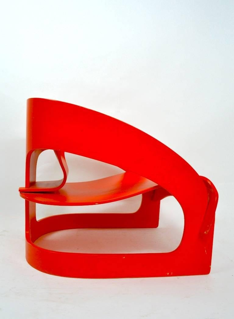20th Century Joe Colombo 4801 for Kartell Lounge Chair For Sale