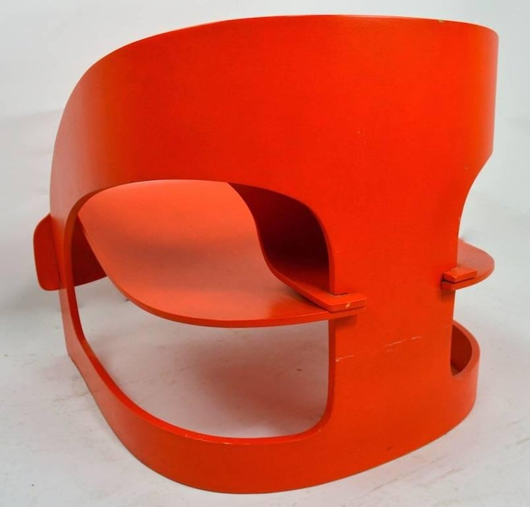Joe Colombo 4801 for Kartell Lounge Chair For Sale 3