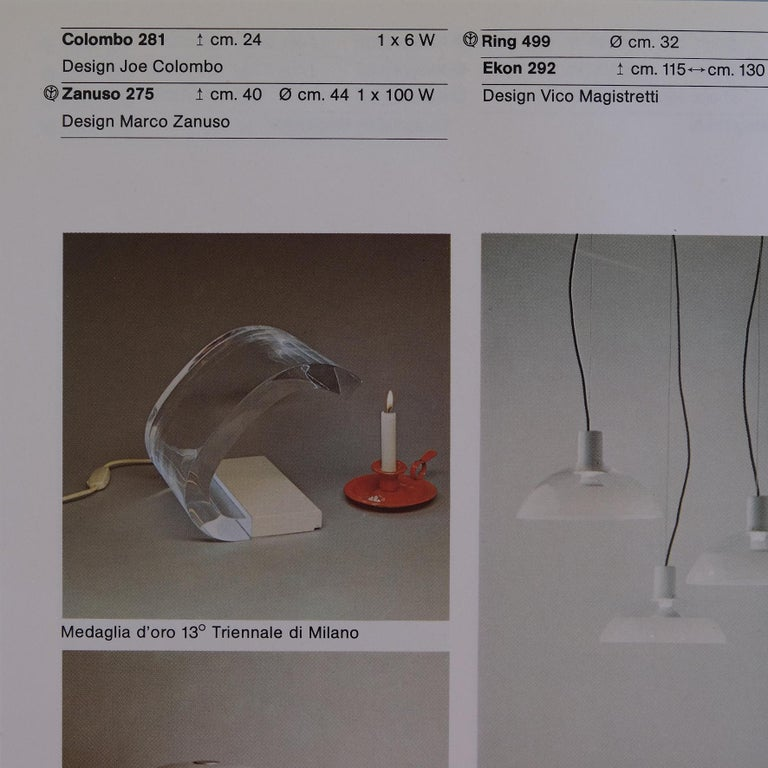 Joe Colombo, A Table Lamp, Acrilica, Oluce For Sale 6