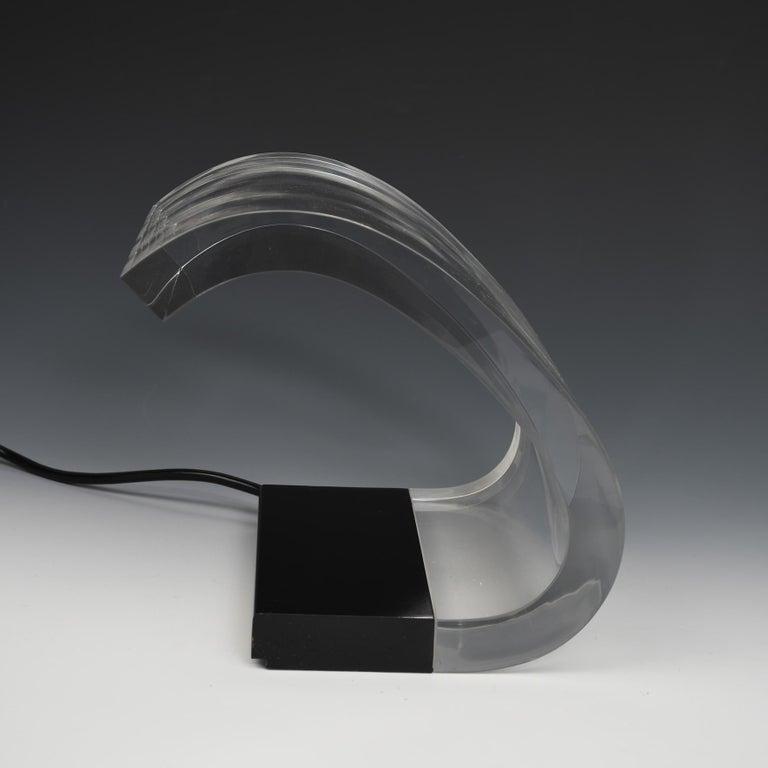 Mid-Century Modern Joe Colombo, A Table Lamp, Acrilica, Oluce For Sale