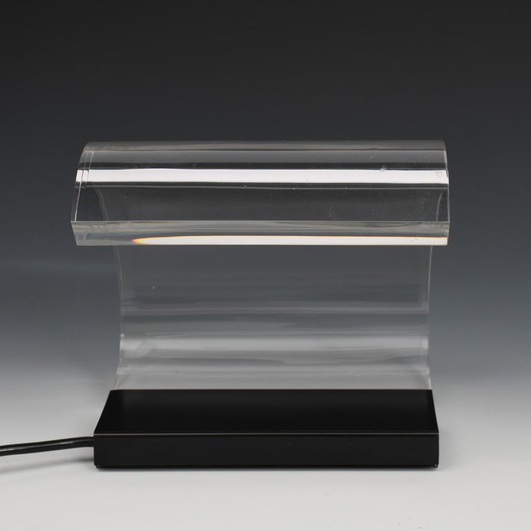 Italian Joe Colombo, A Table Lamp, Acrilica, Oluce For Sale