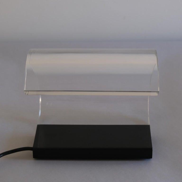 Metal Joe Colombo, A Table Lamp, Acrilica, Oluce For Sale