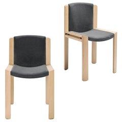 Joe Colombo 'Chair 300' Wood and Kvadrat Fabric by Karakter