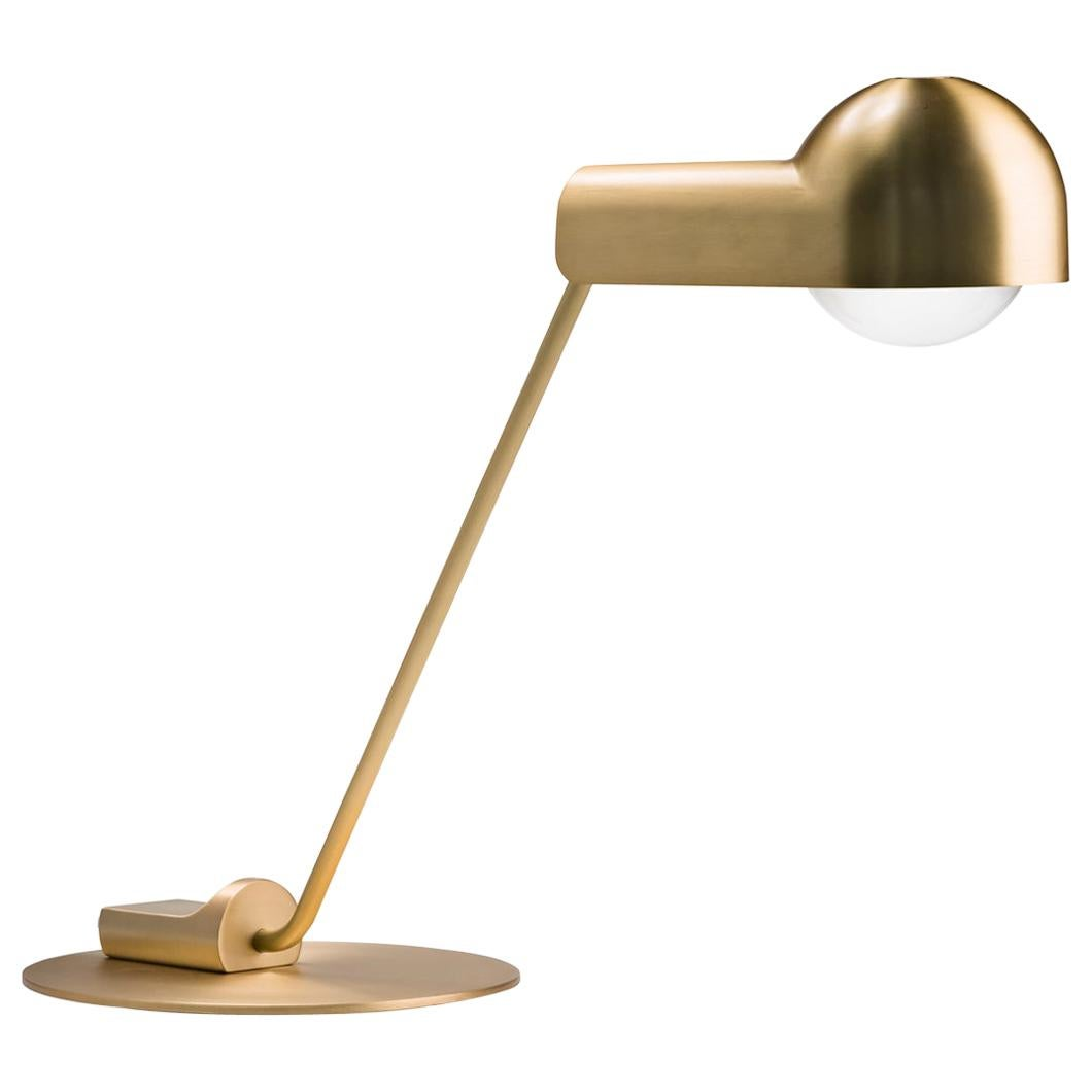 Joe Colombo 'Domo' Brass Table Lamp by Karakter