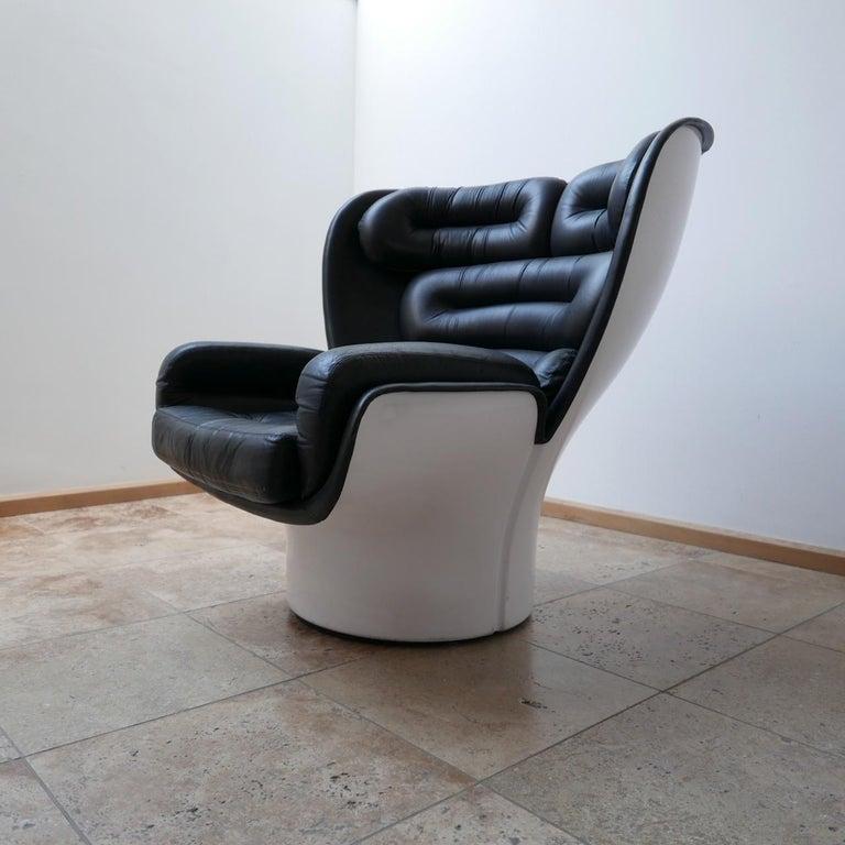 Late 20th Century Joe Colombo 'Elda' Midcentury Italian Armchair For Sale