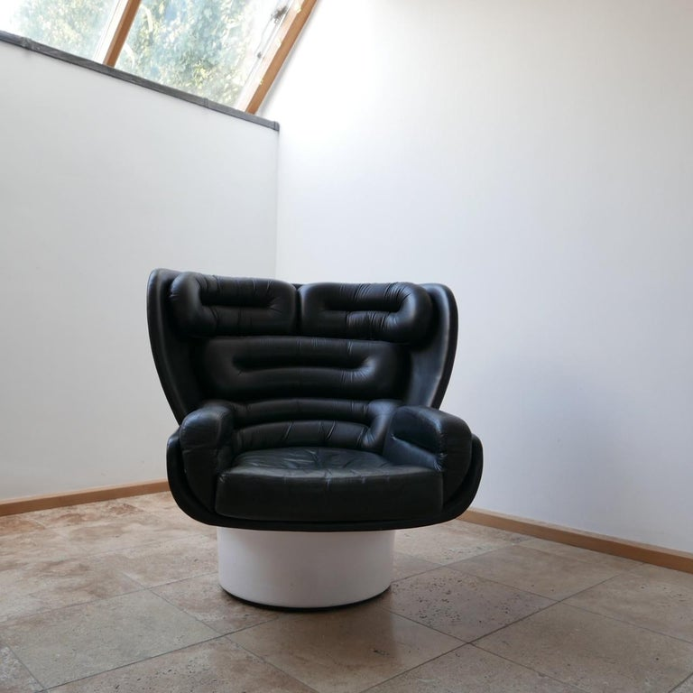 Joe Colombo 'Elda' Midcentury Italian Armchair For Sale 2