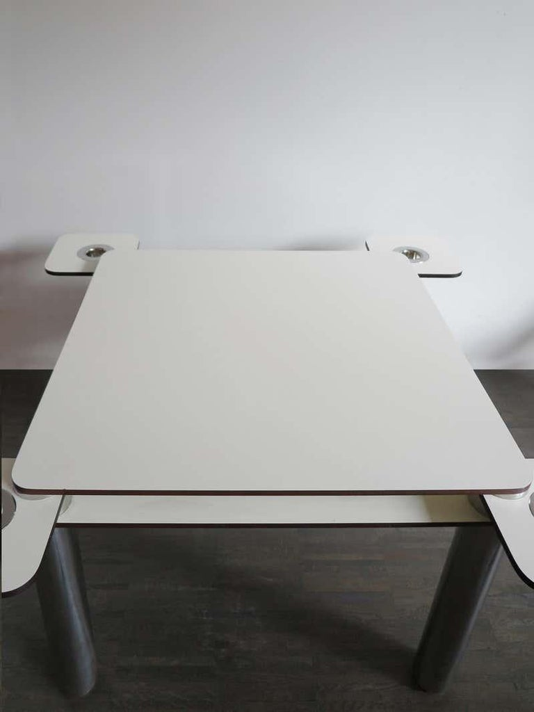 Joe Colombo for Zanotta Italian Poker Card or Game Table, 1960, Italy In Good Condition In Tuscany, IT