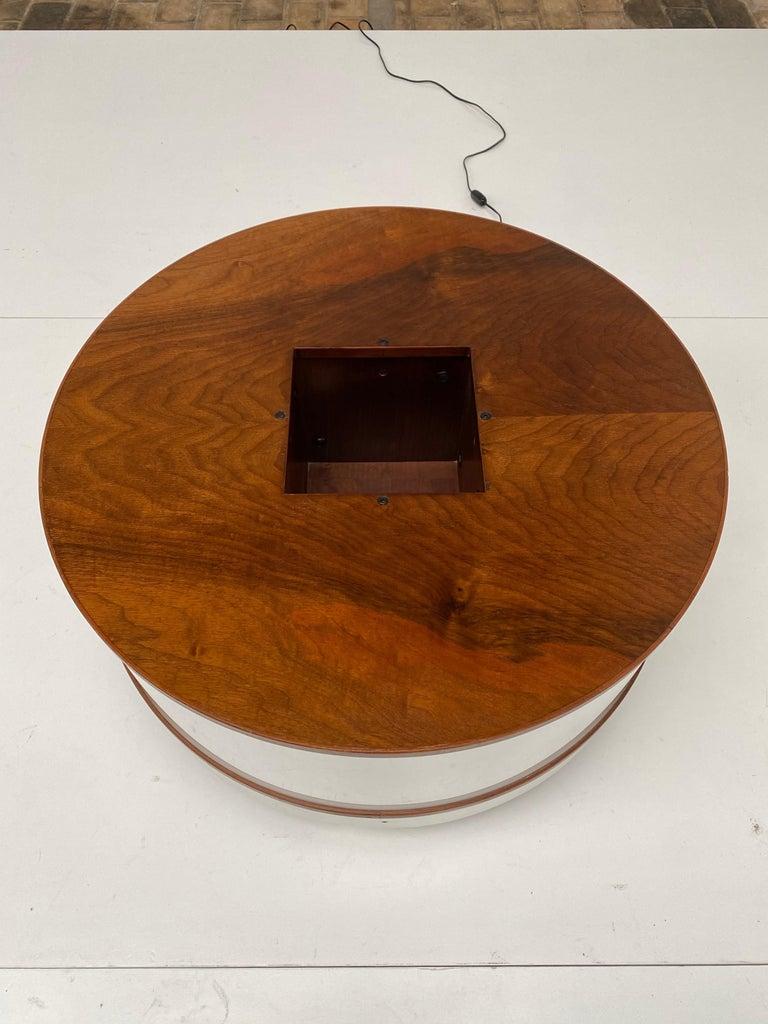 Joe Colombo Illuminated Rosewood Coffee Table, 1963, Original Bernini Label For Sale 3
