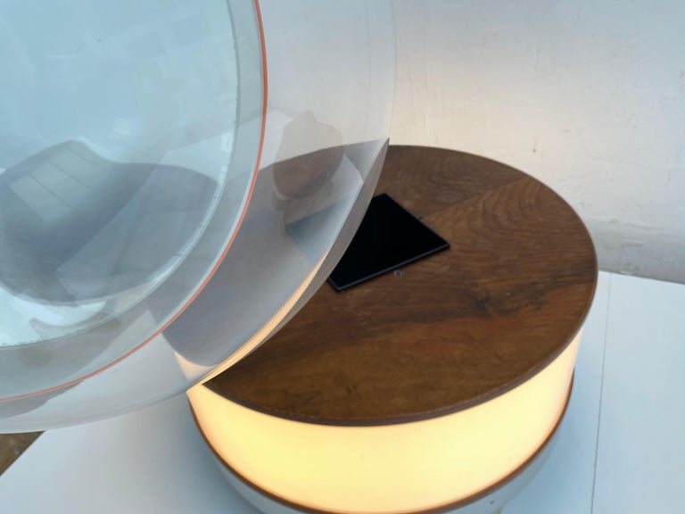Joe Colombo Illuminated Rosewood Coffee Table, 1963, Original Bernini Label For Sale 5