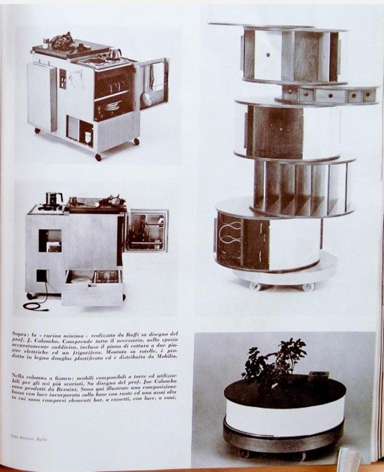 Steel Joe Colombo Illuminated Rosewood Coffee Table, 1963, Original Bernini Label For Sale