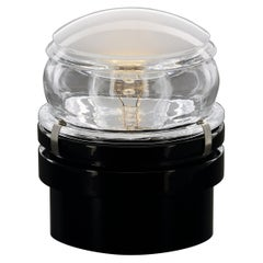 Joe Colombo Inside and Outside Wall and Ceiling Lamp 'Fresnel' Black by Oluce