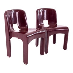 Joe Colombo Kartell Mid Century Plastic Chairs, Pair