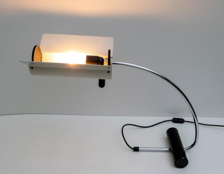 Aluminum Joe Colombo Mid-Century Modern Italian Table Lamp, 1960s For Sale