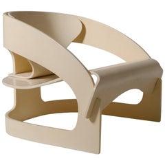 Joe Colombo Mod. 4801 Plywood Armchair, Italy, 1965