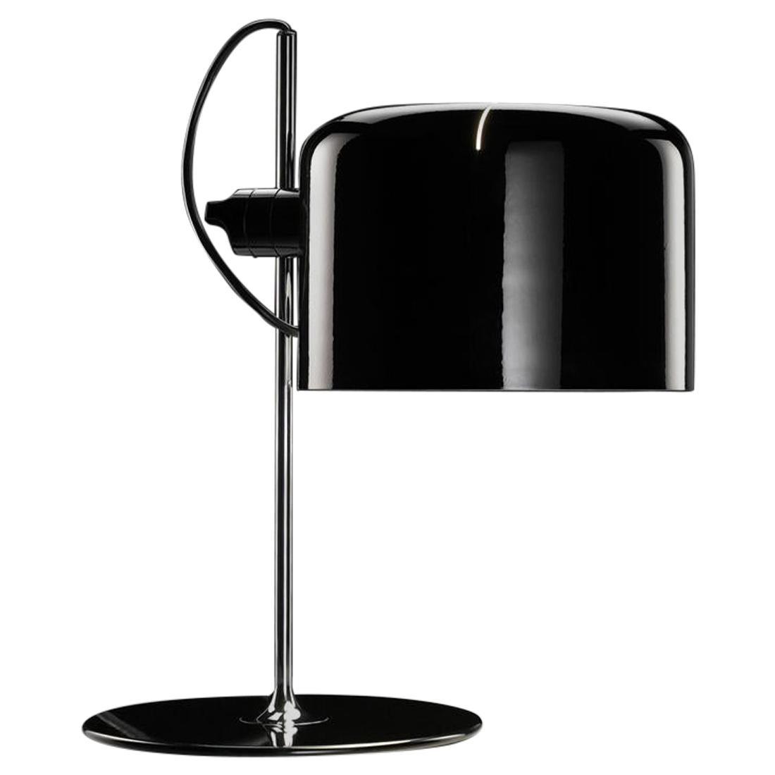 "Joe Colombo Model #2202 ""Coupé"" Table Lamp in Black for Oluce"