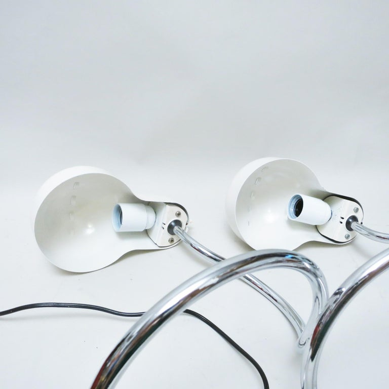Joe Colombo Pair of Lamps Mini Topo Stilnovo In Good Condition For Sale In Paris, FR