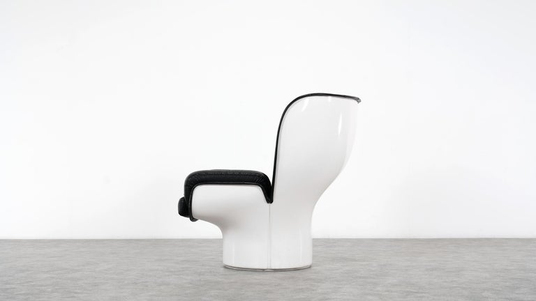 Elda Chair - Joe Colombo - Edition in black leather, 