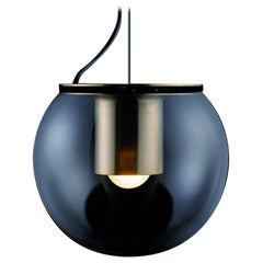 Joe Colombo Suspension Lamp 'The Globe' Large Gold by Oluce