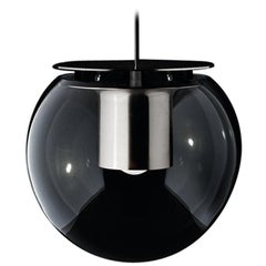 Joe Colombo Suspension Lamp 'The Globe' Large Nickel by Oluce