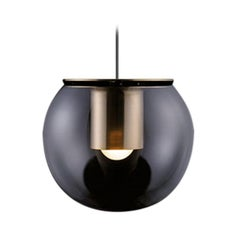 Joe Colombo Suspension Lamp 'The Globe' Small Gold by Oluce