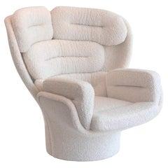 "Joe Colombo Swivel ""Elda"" Italian Lounge Chair"