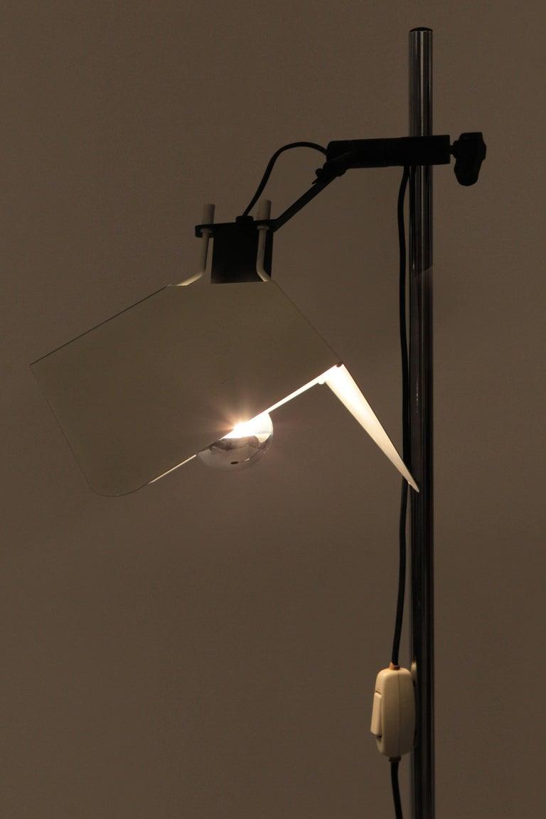 "Late 20th Century Joe Colombo ""Triedro"" Floor Lamp Stilnovo, 1970s For Sale"