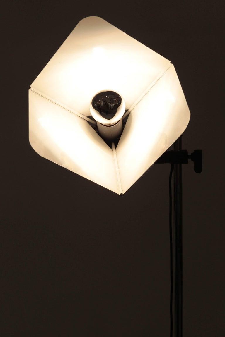 "Joe Colombo ""Triedro"" Floor Lamp Stilnovo, 1970s For Sale 1"
