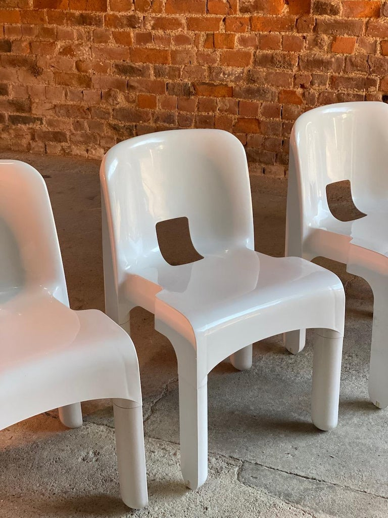 Joe Colombo Universale Chairs Model 4867 Set of Six by Kartell, Italy, 1967 For Sale 3