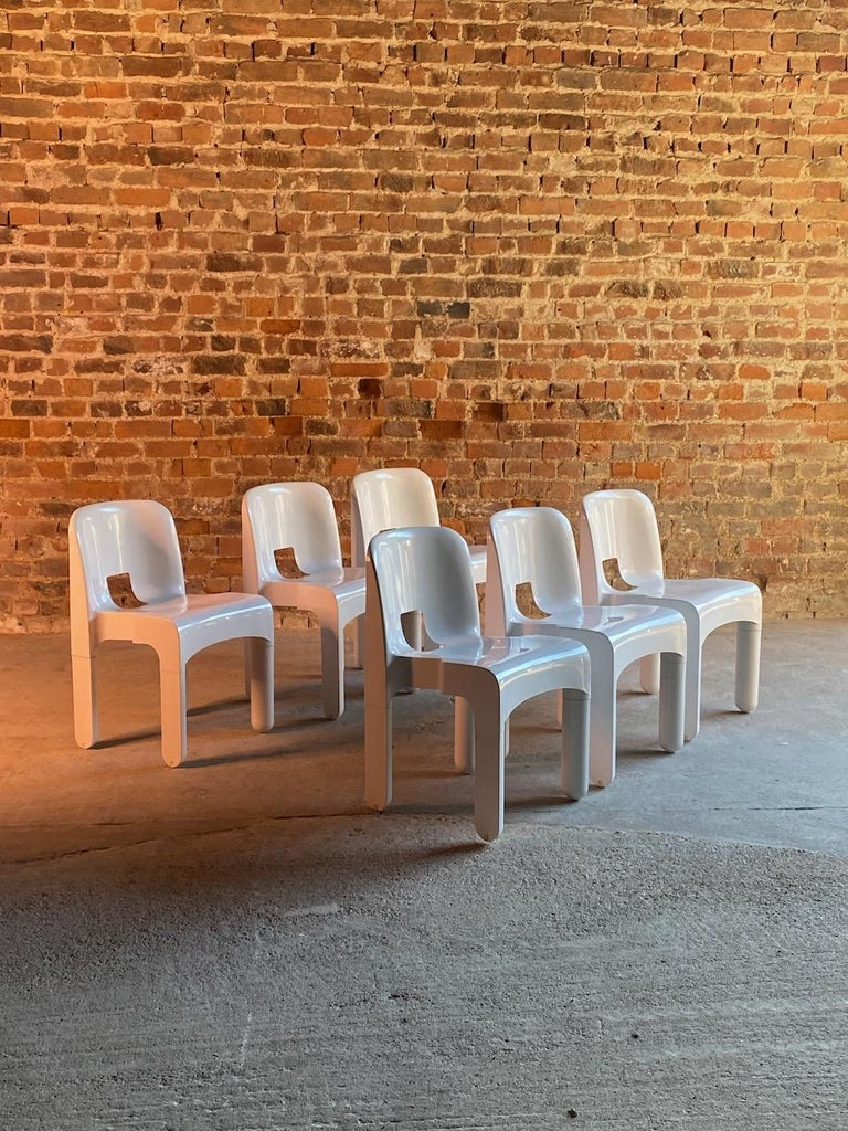 Mid-Century Modern Joe Colombo Universale Chairs Model 4867 Set of Six by Kartell, Italy, 1967 For Sale