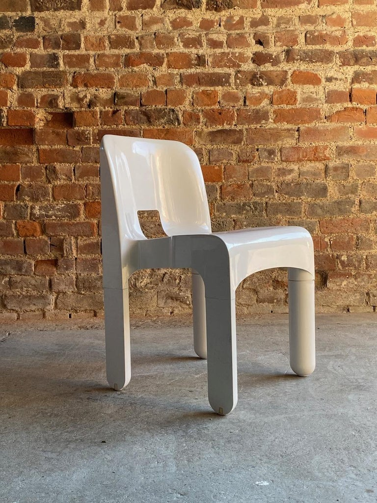 20th Century Joe Colombo Universale Chairs Model 4867 Set of Six by Kartell, Italy, 1967 For Sale