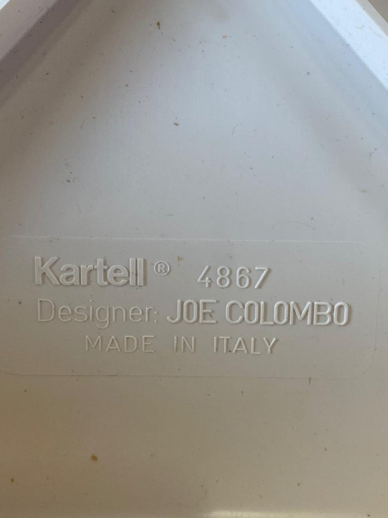 Plastic Joe Colombo Universale Chairs Model 4867 Set of Six by Kartell, Italy, 1967 For Sale