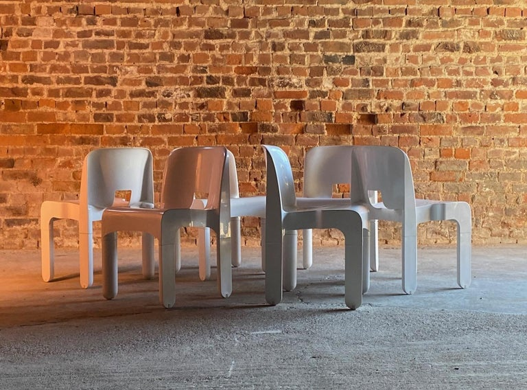 Joe Colombo Universale Chairs Model 4867 Set of Six by Kartell, Italy, 1967 For Sale 2