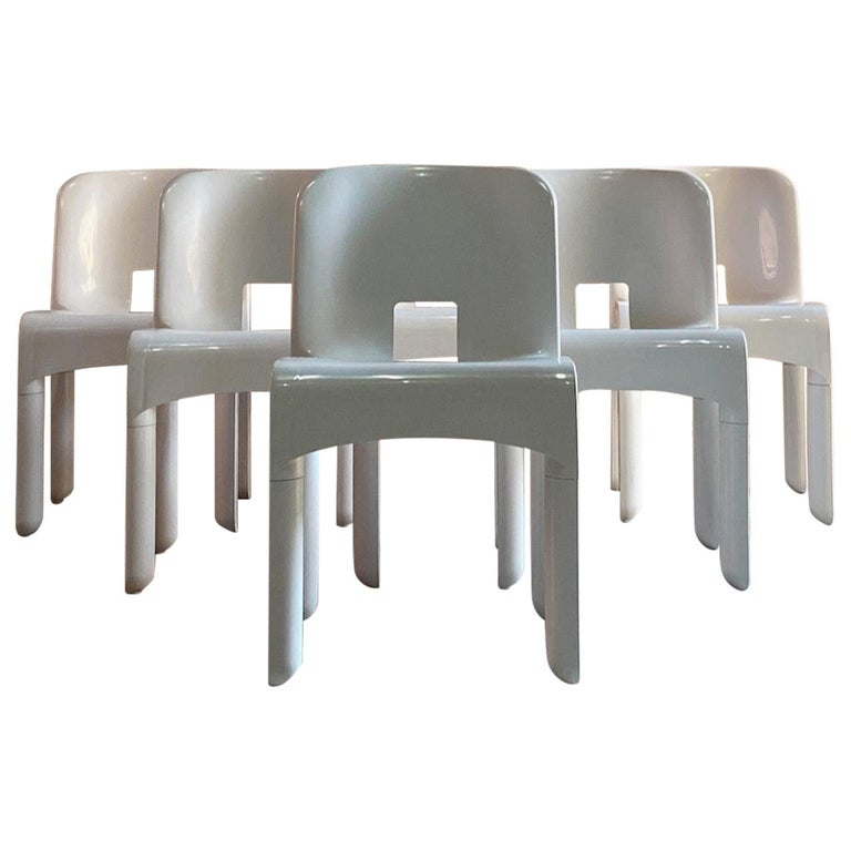 Joe Colombo Universale Chairs Model 4867 Set of Six by Kartell, Italy, 1967 For Sale