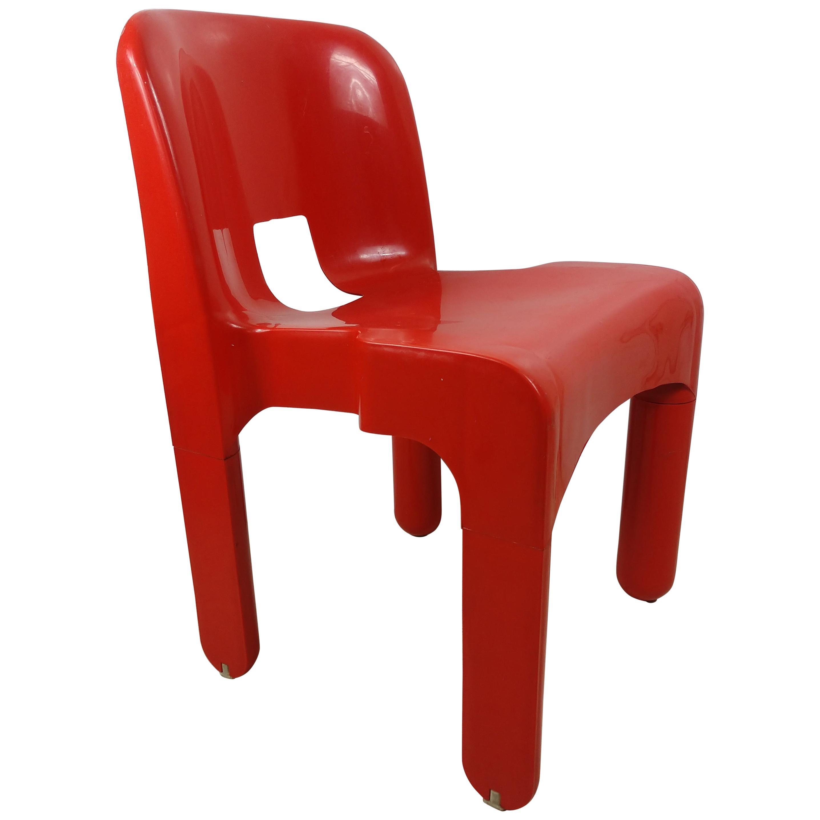 Joe Columbo for Kartell Red Plastic Pop Art Universals Model # 4867