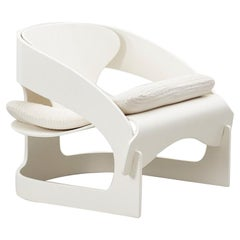Joe Columbo White 4801 Chair, Kartell, Italy 1965