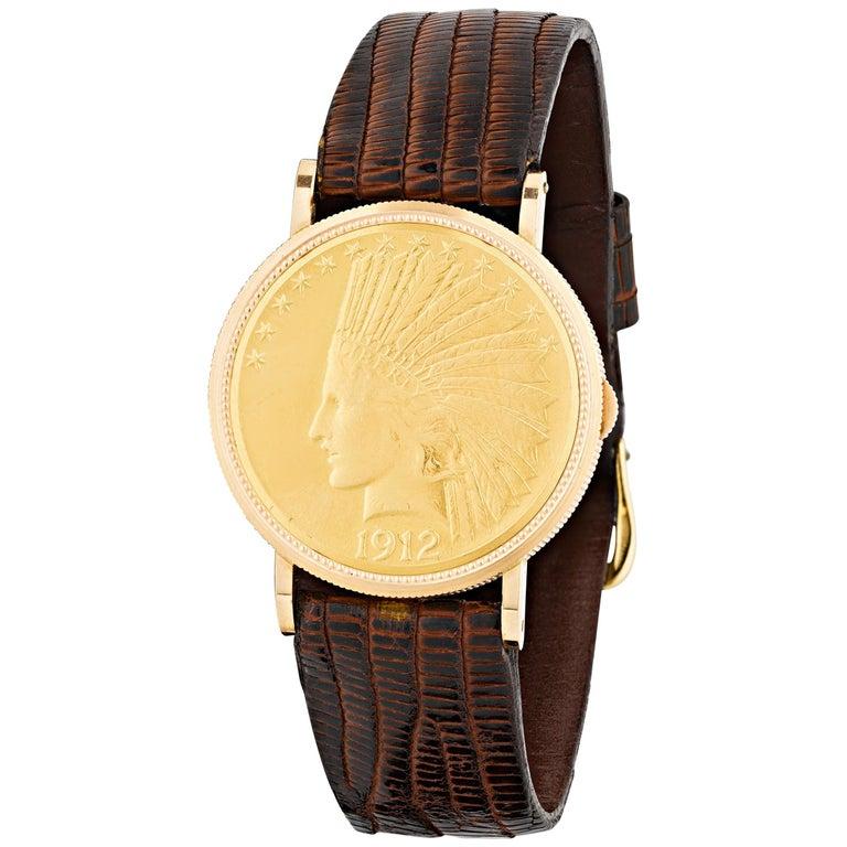 Joe DiMaggio's $10 Gold Coin Presentation Watch For Sale
