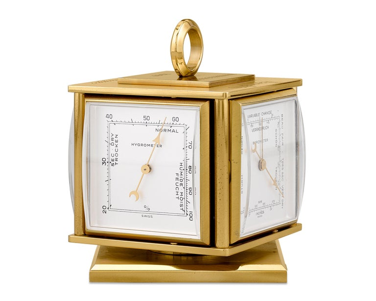 From the personal collection of the legendary Joe DiMaggio, this incredible vintage desk clock was presented to the Yankee Clipper by Harrah's for his participation in their 1967 invitational golf tournament. The Swiss timepiece was retailed by