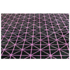 "Hand-Woven Silk and Wool Rug, ""Align"" by Joe Doucet, Limited Edition"