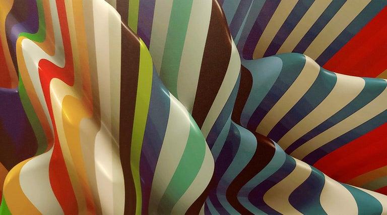 Striped Candy, 38x50, Canvas - Abstract Geometric Print by Joe Doyle and Diane Rosenblum