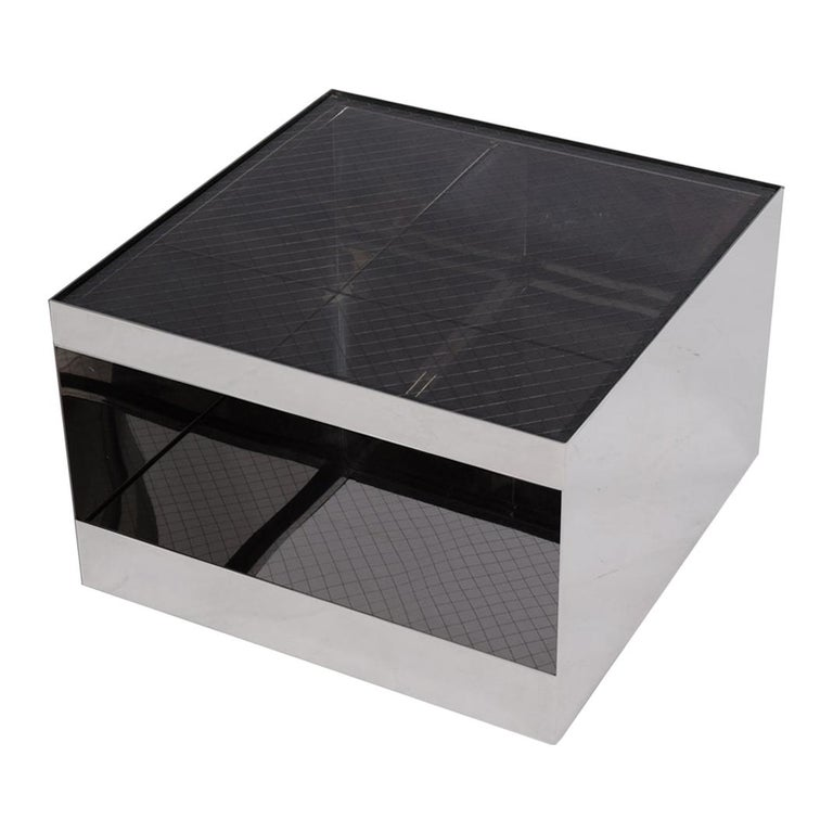 Joe D'Urso Cube Rolling Table for Knoll For Sale