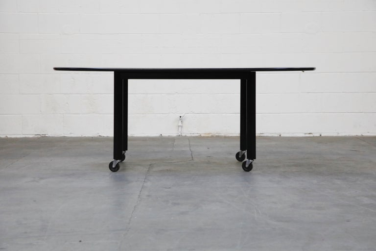 Post-Modern Joe D'Urso for Knoll International 'High Table' Dining/Work Table, Signed, 1980 For Sale