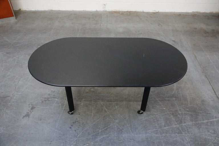 Joe D'Urso for Knoll International 'High Table' Dining/Work Table, Signed, 1980 In Good Condition For Sale In Los Angeles, CA