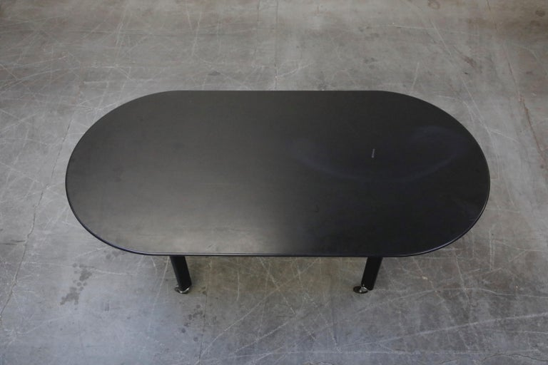 Late 20th Century Joe D'Urso for Knoll International 'High Table' Dining/Work Table, Signed, 1980 For Sale