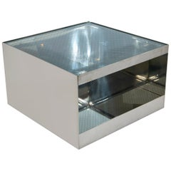 Joe D'Urso Polished Stainless Low Rolling Table