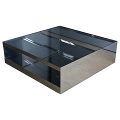 Joe D'urso Polished Stainless Steel Coffee Table for Knoll, circa 1981