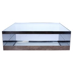 Joe D'urso Polished Stainless Steel Coffee Table