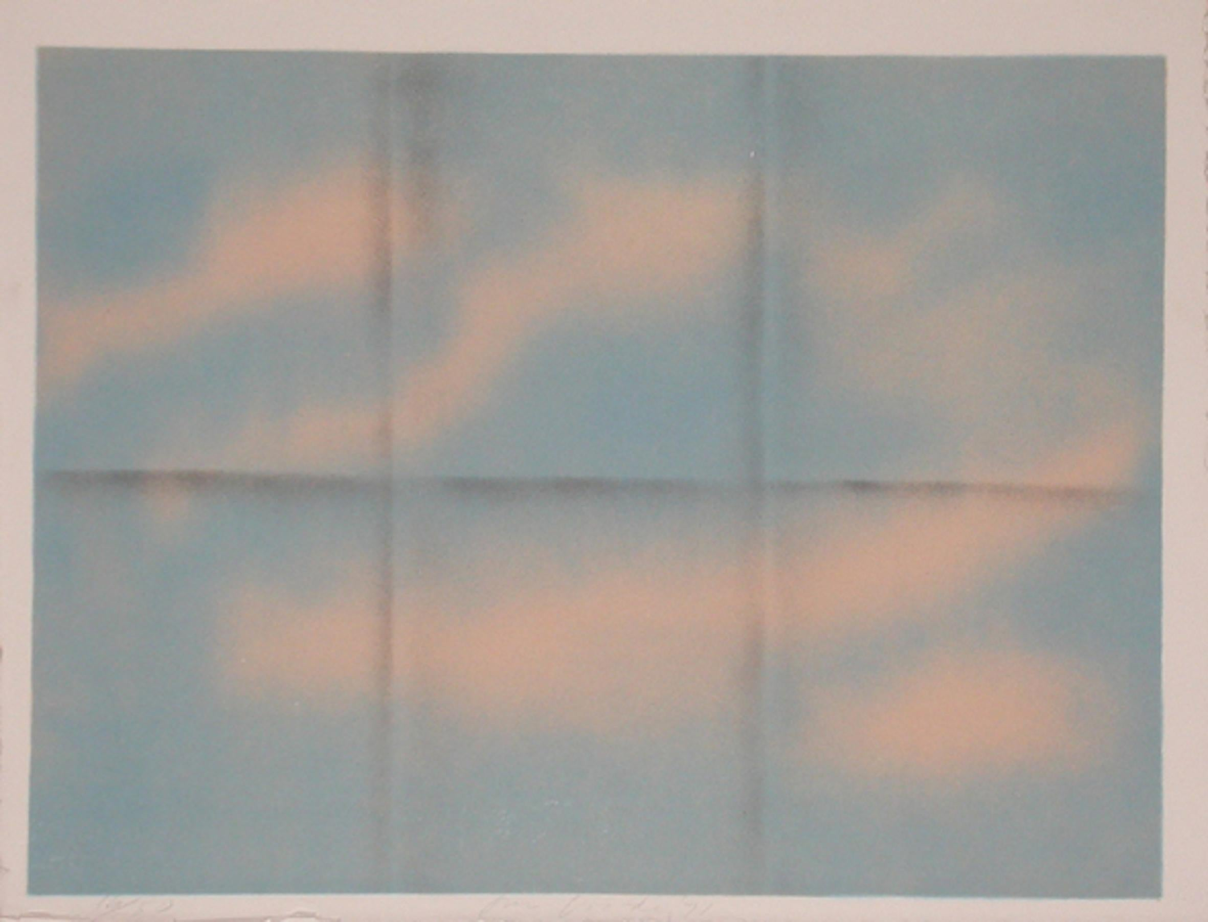 Grey Folded Clouds - I Blue and Pink