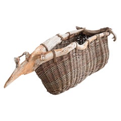 Joe Hogan, Bog Boat Going To Ground, Bog pine, Contemporary Baskets, 2020