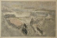 "Joe Jones (American, 1934-1993) ""Foggy Bay"" Original Lithograph C.1970"